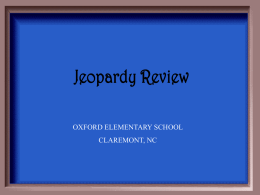EOG Jeopardy Math Review 2008-2