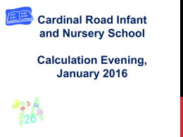 Maths Meeting PowerPoint January 2016
