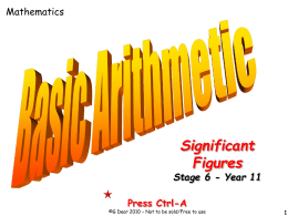 07 Significant Figures
