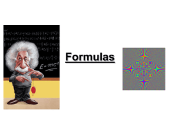 Formulas Powerpoint (level 6)