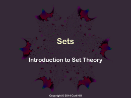 Introduction to sets