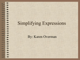 Simplifying Expressions with Real Numbers