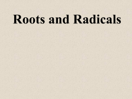 form 2- 24 roots and radicles - kcpe-kcse