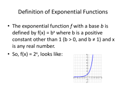 Alg2 Exponential Functions