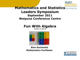 Maths-2011_Leader_Symposium_Algebra_ppt