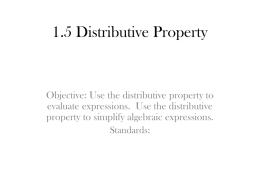 1.5 Distributive Property (2)