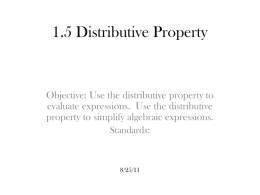 1.5 Distributive Property