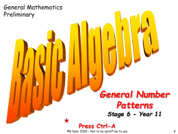 01 General Number Patterns