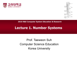 Lec1 Number Systems