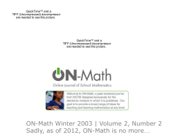 "Go to http://my.nctm.org/eresources/ and click ""On"