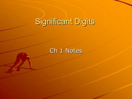 H-Physics Significant Digits PP