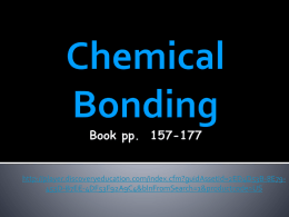 Chemical Bonding Notes