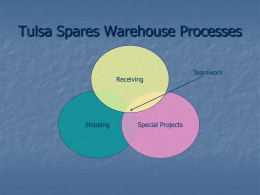 TulsaSparesWarehouseProcesses