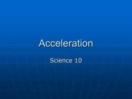 Lesson 20 - Acceleration