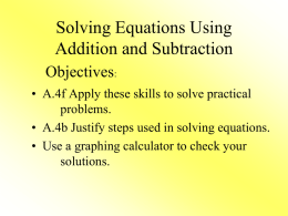 Solving equations - KTruitt