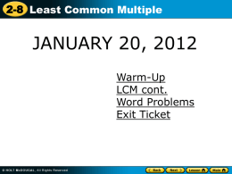 Find the least common multiple