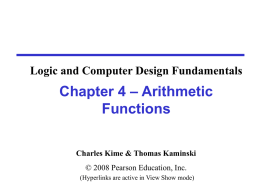 Chapter 2 - Part 1 - PPT - Mano & Kime - 2nd Ed