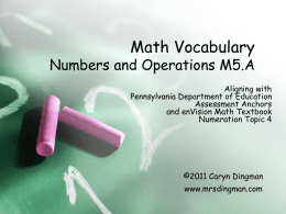 Numeration Vocab PowerPoint #2
