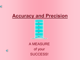 accuracy and precision 1 chem 2