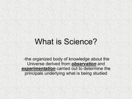 science skills and characteristics