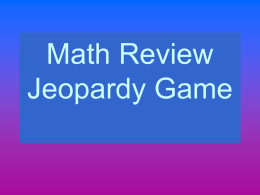 ReviewMathJeopardy4thgrade1stQuarter