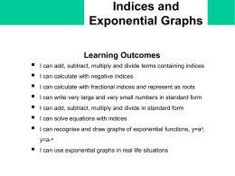 w) Indices and Exponential Graphs - Student - school