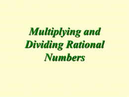Multiply and Divide Fractions