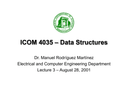 Lecture 3 - Electrical and Computer Engineering Department