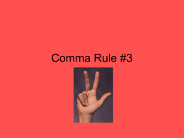 Comma Rule 3 Conventions