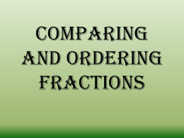 Comparing and Ordering Fractions - Mendenhall-Jr-PLC