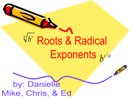 roots and radical exponents tutorial 7a