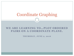 Mod 2 Coordinate Graphing