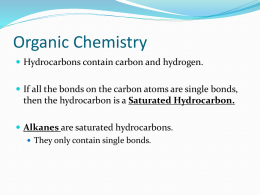 Unit 7: Powerpoint on alkanes, for p. 7-9