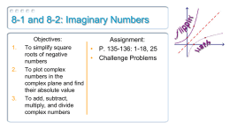 8 1 8 2 Imaginary Numbers