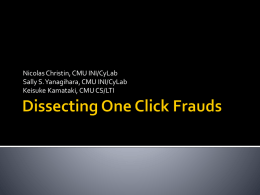 Dissecting One Click Fraud