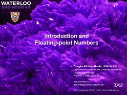Introduction to Floating-point Numbers