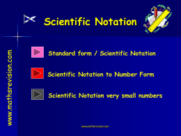 Nat 4 Scientific Notation