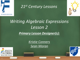 writing Algebraic expression 2 PPx