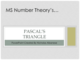 Pascal*s Triangle