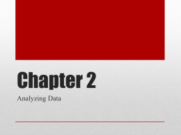 Chapter 2: Analyzing Data