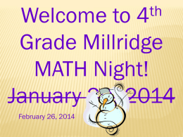 Math Night Fraction Powerpoint