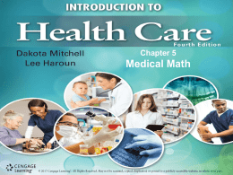 Chapter 5 Medical Math