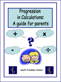Progression in Calculations for Parents