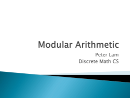 Modular Arithmetic Overview