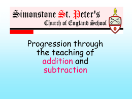 Year 1 - Simonstone St Peters CE School