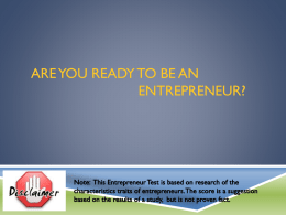 Are You Ready to be an Entrepreneur?