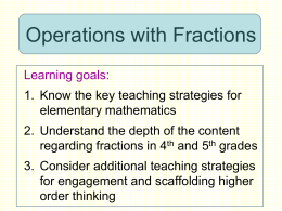 Operations with Fractions - elementary-math