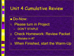 2015_Unit 4 Exam Review