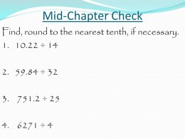 Mid-Chapter Check