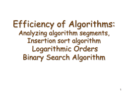 Efficiency of algorithms 2